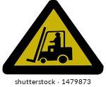 forklift truck sign illustration   Shutterstock .eps vector #1479873