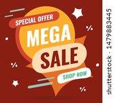 banner mega sale  special offer ... | Shutterstock .eps vector #1479883445