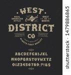 font west district. craft retro ... | Shutterstock .eps vector #1479886865