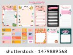 collection of weekly or daily... | Shutterstock .eps vector #1479889568