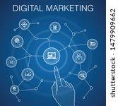 digital marketing concept  blue ...