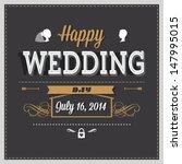 wedding invitation | Shutterstock .eps vector #147995015