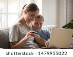 young mother and schoolchild... | Shutterstock . vector #1479955022