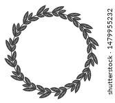 circle leaf frames. floral... | Shutterstock .eps vector #1479955232