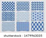 japanese traditional blue... | Shutterstock .eps vector #1479963035