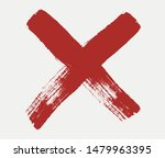 x mark icon. red cross sign in... | Shutterstock .eps vector #1479963395