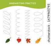 handwriting practice sheet....   Shutterstock .eps vector #1479965795