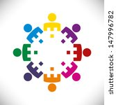 group or team of business... | Shutterstock .eps vector #147996782