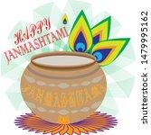 vector image of janmashtami...   Shutterstock .eps vector #1479995162