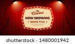 now showing movie in cinema... | Shutterstock .eps vector #1480001942