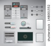vector set of various elements... | Shutterstock .eps vector #148001552