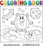 Coloring Book Monsters In Space ...