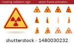 animated radiation sign. vector ... | Shutterstock .eps vector #1480030232