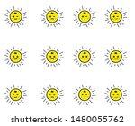 sun  emoticon or smile icon for ... | Shutterstock .eps vector #1480055762