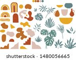 modern abstract shapes and... | Shutterstock .eps vector #1480056665