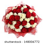 Stock photo floral compositions of red and white roses large bouquet of mixed colored roses design bouquet of 148006772