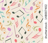 seamless pattern with musical... | Shutterstock .eps vector #148007402