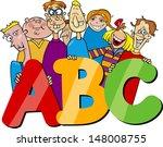 cartoon illustration of  school ... | Shutterstock . vector #148008755