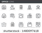 office vector line icons set.... | Shutterstock .eps vector #1480097618