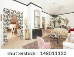 eclectic furnishings in living... | Shutterstock . vector #148011122
