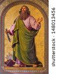 Small photo of VIENNA - JULY 27: Fresco of Abraham by Joseph Schonman from year 1857 in Altlerchenfelder church on July 27, 2013 Vienna.
