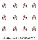 robot emoticon or smile icon... | Shutterstock .eps vector #1480167752