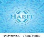 Habit Realistic Sky Blue Emblem....