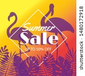 summer sale banner with...   Shutterstock .eps vector #1480172918