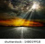dramatic sky over an asphalt... | Shutterstock . vector #148019918