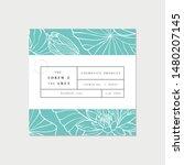 vector patten for cosmetics... | Shutterstock .eps vector #1480207145