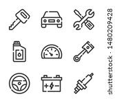 car service vector line icons...