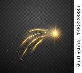 gold falling star on dark...   Shutterstock .eps vector #1480238885