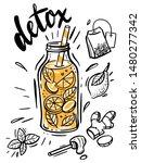 sketch illustration of detox... | Shutterstock .eps vector #1480277342