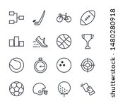 premium set of sport line icons....