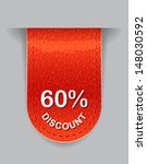 glossy label with discount value | Shutterstock .eps vector #148030592