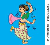 Madubhani Indian Traditional...