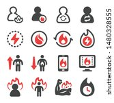 metabolism and burn icon set... | Shutterstock .eps vector #1480328555