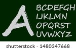 curly font 3d chalk white   Shutterstock .eps vector #1480347668