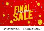 final sale banner template....   Shutterstock .eps vector #1480352282