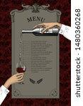menu list template with... | Shutterstock .eps vector #1480360268