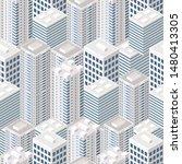 isometric buildings. seamless...   Shutterstock .eps vector #1480413305