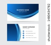 abstract blue waves business... | Shutterstock .eps vector #1480434782