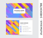memphis colorful business card  ... | Shutterstock .eps vector #1480434788