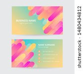 memphis colorful business card  ... | Shutterstock .eps vector #1480434812