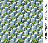 isometric buildings. seamless...   Shutterstock .eps vector #1480438652