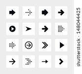 16 arrow sign icon set 01.... | Shutterstock .eps vector #148044425