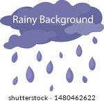 rainy background for template... | Shutterstock .eps vector #1480462622