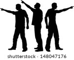 silhouette of man pointing his... | Shutterstock .eps vector #148047176