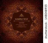 vintage menu design template.... | Shutterstock .eps vector #148048955