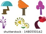 the magic tree set  ... | Shutterstock .eps vector #1480550162
